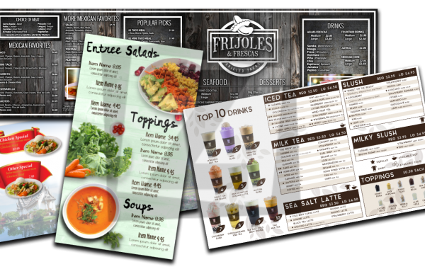 Custom Menu and Designs